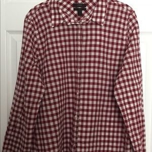 JCrew Boy Fit Maroon LS Button Down - 16